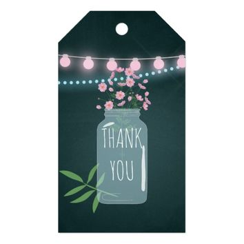 Pink and blue Cosmos floral Wedding Favor Gift Tags
