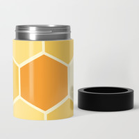 Yellow Honeycomb Can Cooler by spaceandlines
