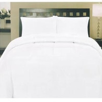 ComfortLiving Down Alternative 5 Piece Embossed Comforter Set - White (Queen)