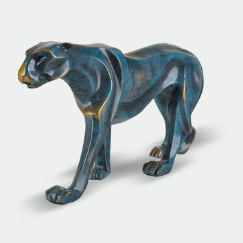 European style vintage leopard sculpture ornaments home decorations resin crafts lucky animal figurines creative boss gift
