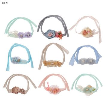 Newborn Photography Props Flower Headband Baby Girls Handmade Tieback Headwear Headband Photography Newborn Accessories