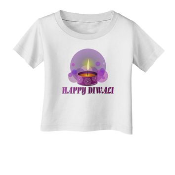Happy Diwali Purple Candle Infant T-Shirt by TooLoud