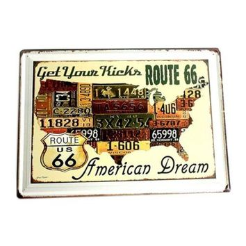 America Village Iron Bar Vintage Wall Hanging Decoration   4