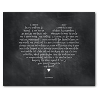 I carry your heart with me poem - e.e. cummings - typography wall art print - Nursery Print Valentine's Day - love poetry - heart typography
