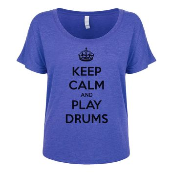 Keep Calm And Play Drums Women's Dolman