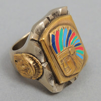 fine light trading - enamel chief ring hickorees exclusive
