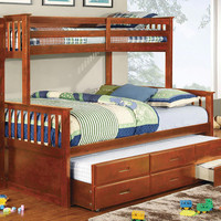 Chaparral Extra Long Twin over Queen Combo Bunk Bed
