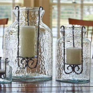 Hammered Jar Candle Holder