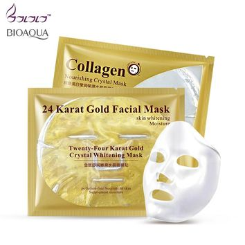 24k gold facial mask / collagen essence face mask crystal masks repair dry skin whitening hyaluronic acid moisture its skin care