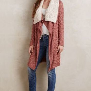 Knitted & Knotted Lilitz Cardigan in Dark Orange Size: