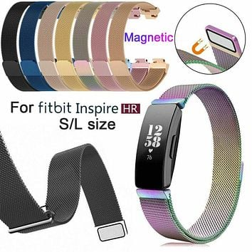 For Fitbit Inspire /HR Activity Tracker Milanese Magnetic Stainless Steel Strap