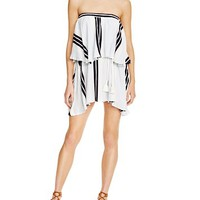 Faithfull the BrandRomy Striped Strapless Dress