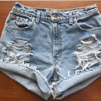 Size 8 Levi's High Waisted Jean Shorts