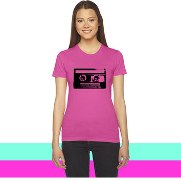 Cassette Tape - 80s - Vintage - Retro - Music women T-shirt