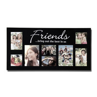 "Decorative Black Wood ""Friends"" Wall Hanging Picture Photo Frame Collage"