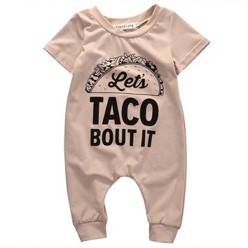 Let's Taco bout It Printed Baby Romper