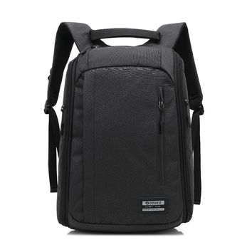 Ozuko Nylon Laptop Backpack For Macbook Air Pro Retina Surface Book 11 12 13 14 15inch Men Women Travel Waterproof Notebook Bag