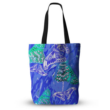 "Vikki Salmela ""Butterflies Party Blues"" Everything Tote Bag"
