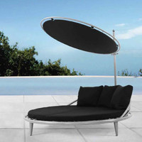 Belize- Steel Rattan Bed with Sunroof