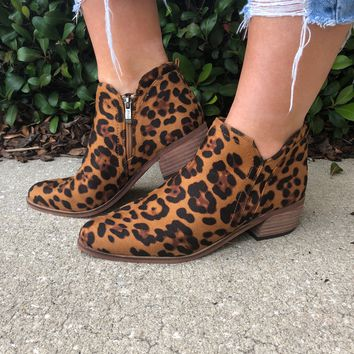 Prowl The Night Booties- Leopard