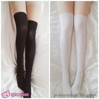 [3 For 2] 2 Colors Basic Fake Over Knee Thigh High Tights SP130053 from SpreePicky