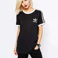 adidas Originals Black Three Stripe T-Shirt