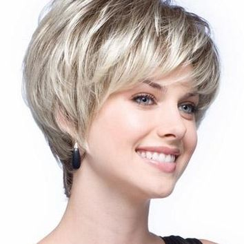 100% High Temperature Fibre Hair Replacement Fancy Dress Party Wig Sexy Lady Short Pixie Cut Hairstyle Wigs for Women Synthetic