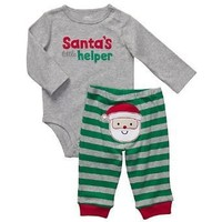 Carter's Santa's Lil Helper 2-pc Set Newborn