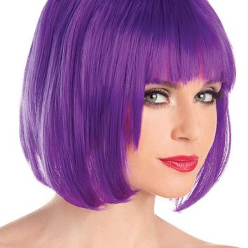 Short Bob Wig Purple