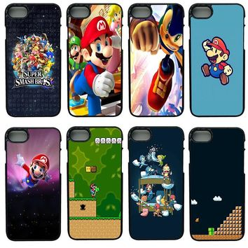 Super Mario party nes switch Funny s Bros Mushroom Cell Phone Cases Hard Plastic Cover for iphone 8 7 6 6S PLUS X 5S 5C 5 SE iPod Touch 4 5 6 Case AT_80_8