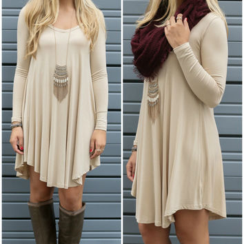 Knit Long Sleeve Dress = 4807003140