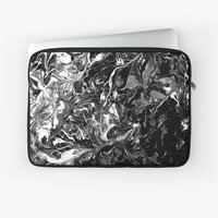 'Black and white marble texture.' Laptop Sleeve by kakapostudio