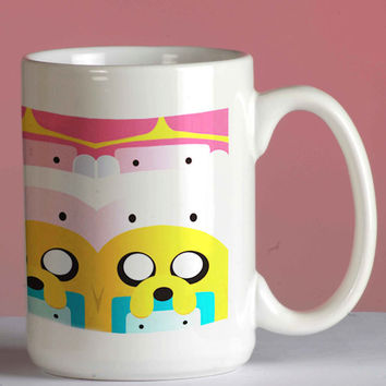 Adventure Time mug coffee, mug tea, size 8,2 x 9,5 cm