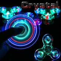 Fidget Spinners Crystal LED Tri Spinner