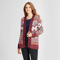 Women's Patterned Cardigan - Mossimo Supply Co.™ Burgundy