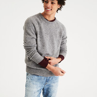 AEO Donegal Crew Neck Sweater, Heather Gray