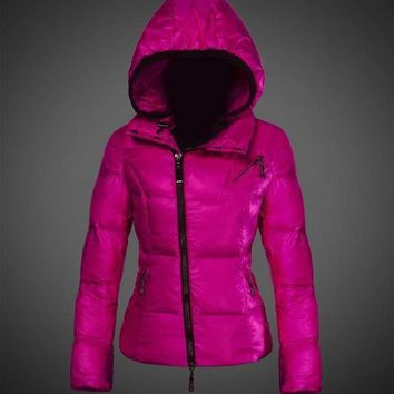Moncler Joinville Asymmetric Puffer Jacket Purple