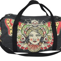 Liquorbrand Traditional Butterfly women Tattoo Flash Tattoo Art Oversized Duffel Bag