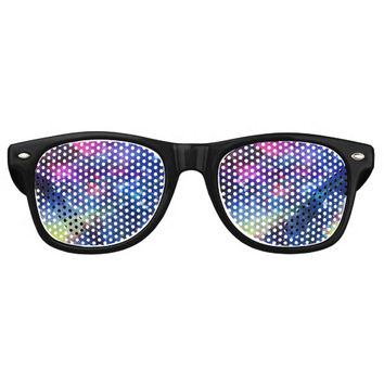 Space traveller spatial galaxy painting retro sunglasses