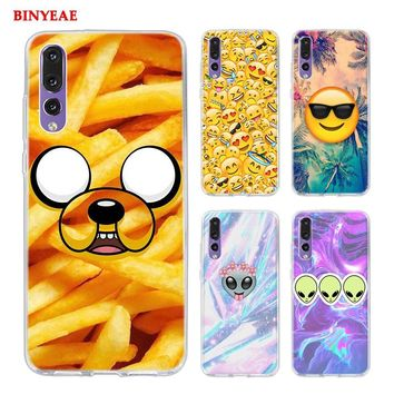 BINYEAE Boss Bitch mode on pink please Emoji art Style Clear Soft TPU Phone Cases for Huawei P20 Lite Honor 9 8 Lite 7X 6A 6X 6C