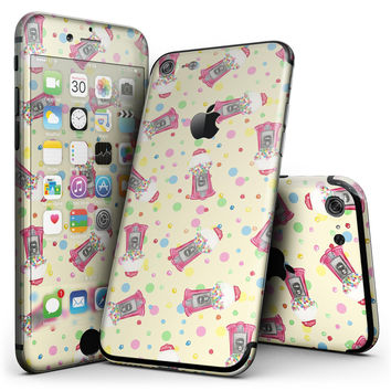 The Fun Colorful Gumball Machine Pattern - 4-Piece Skin Kit for the iPhone 7 or 7 Plus