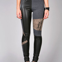 Collage Texture Leggings | Trendy Leggings at Pink Ice