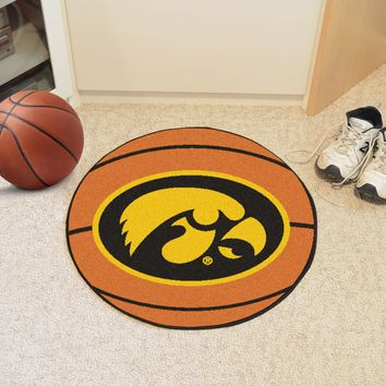 "Iowa Basketball Mat 27"" diameter"