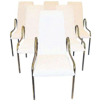 Pre-owned Rare Mastercraft Brass Dining Chairs - Set of 6
