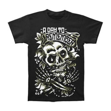 A Day To Remember Men's  Death Skull T-shirt Black Rockabilia