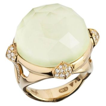 Stephen Webster Chrysoprase quartz 18-karat gold ring