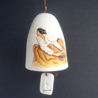 Vintage Signed RC Gorman The Pottery Keeper Chime or Bell