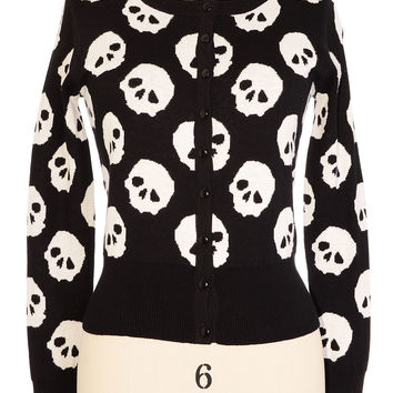 Skull Collection Cardigan Sweater