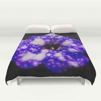 Famous Night sky Petunia Duvet Cover by Xiari_photo