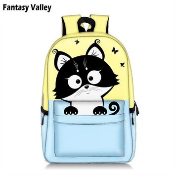 Student Backpack Children Kawai Rainbow Unicorn Students Backpack Cute Cat Children School Bags Backpack for Teenager Girls Book Bag Women Laptop Backpack AT_49_3